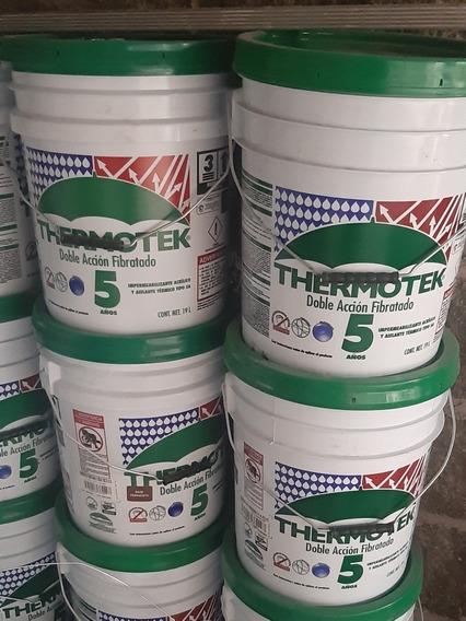 Impermeabilizante Thermotek 5 Años, Doble Acción Fibratado