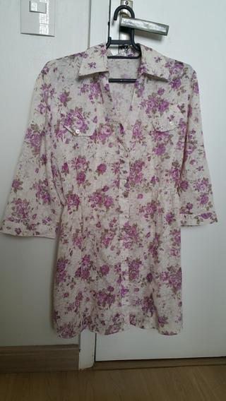 Camisa Feminina Flores