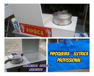 Pipoqueira Profissional Eletrica Ou Á Gás +4 Adesivos