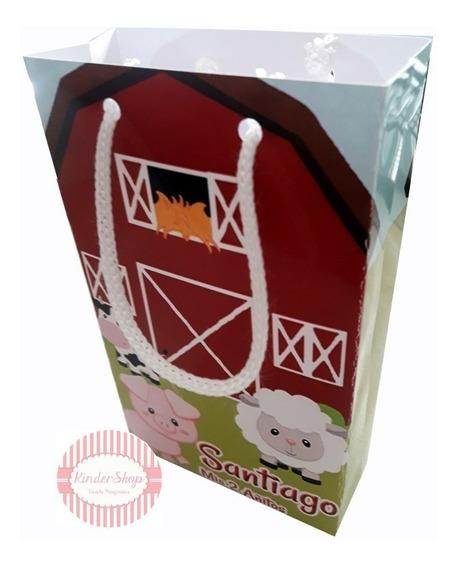 Animales Granja Bolsita Imprimible Personalizada Candy Bar