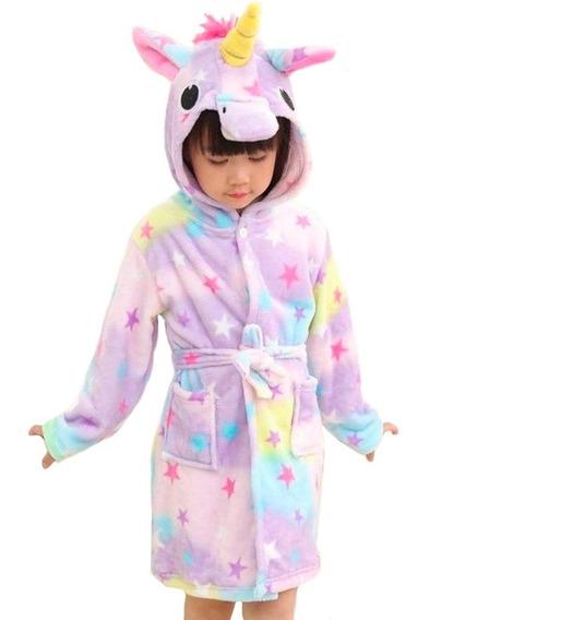 Bata Pijama De Baño En Forma De Unicornio Estrellas H8119