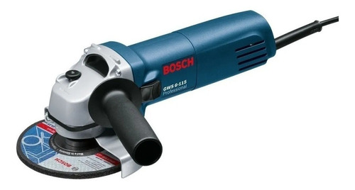 Esmerilhadeira Angular Bosch Professional Gws 6-115 Azul 400 W 220 V