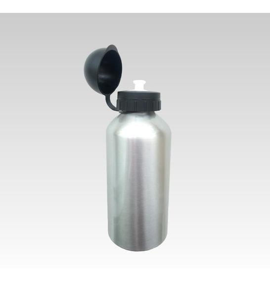 16 Squeeze Sublimação Alumínio 500ml Resinado Prata C/ Tampa