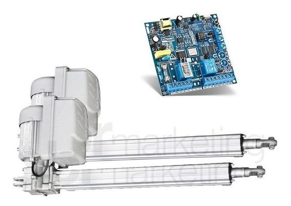 Kit Motor Duplo Pivotante 1/2 Alum Super Flash 2,5m Peccinin
