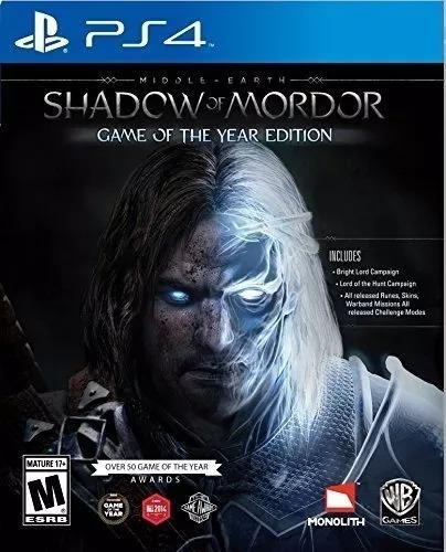 Shadow Of Mordor - Ps4 - Midia Fisica