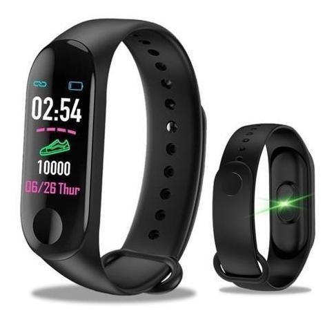 Smartband Inteligente Preta M3 Monitor Cardiaco E Pressão