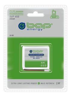 Bateria De Telefone Sem Fio Recarregavel 600mah 2.4v Bap-450