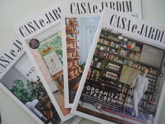 Revistas Casa E Jardim De 2018 E 2019 - 4 Unidades