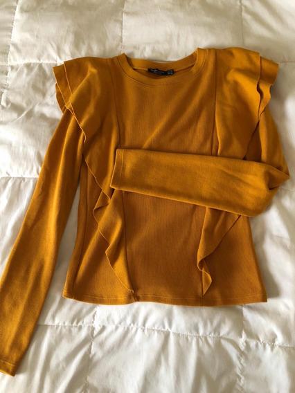 Sweater Mostaza Marca Bershka