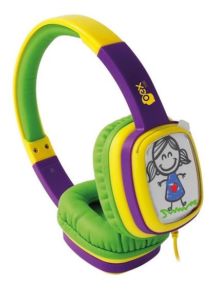 Fone Ouvido Headphone Cartoon Infantil Hp302 Colorido Oex