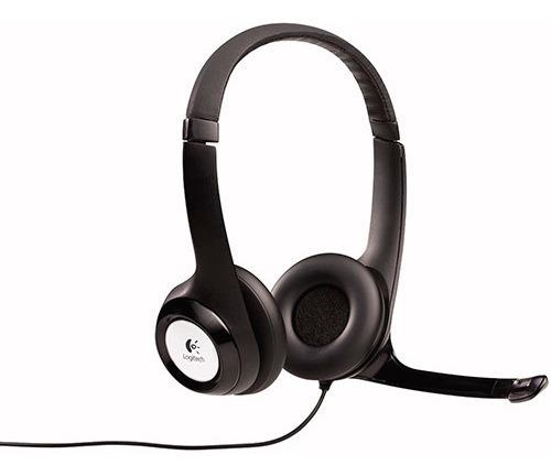 Headset Logitech Stereo H390 Preto