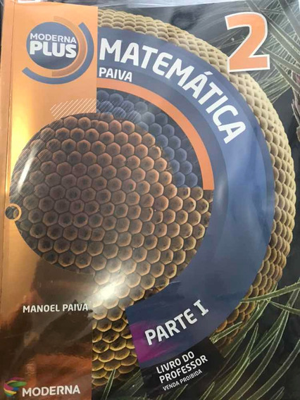 Livro Matemática Paiva 2 - Moderna Plus Novo