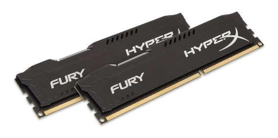 Memoria Ram 16gb Kingston Hyperx Fury Kit (2x8gb) 1600mhz Ddr3 Cl10 Dimm - Black (hx316c10fbk2/16)