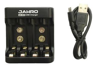 Jahro U4-9v Cargador De Pilas Y Bateria 9v Cable Usb Oferta