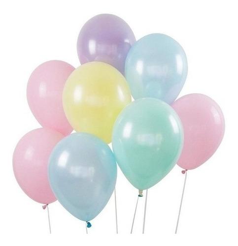 Imagen 1 de 2 de Globos Latex Pastel Surtido 12 Pulgadas Cumpleaños X25 Uni