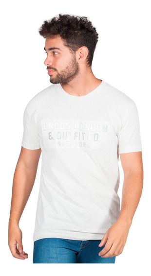 Remera Relieve Bross London Ny - Hombre