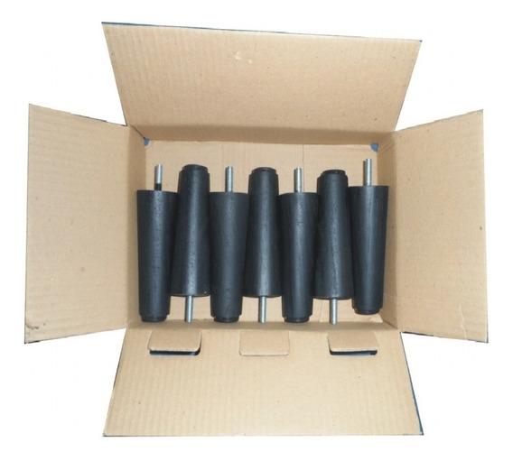 Kit 7 Pés Para Cama Box Casal E Solteiro Em Madeira 12 Cm