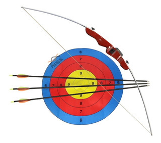 Arco E Flecha Tupy Nautika 14 Libras Fibra +3 Flechas + Alvo