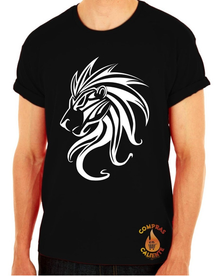 Playera Camiseta Remera Ropa Urbana Skate Deportiva Hombre Unisex Rey Leon Lion Tribal Silueta Perfil Rugido