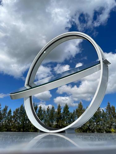 Ojos De Buey En Aluminio Y Vidrio Movil