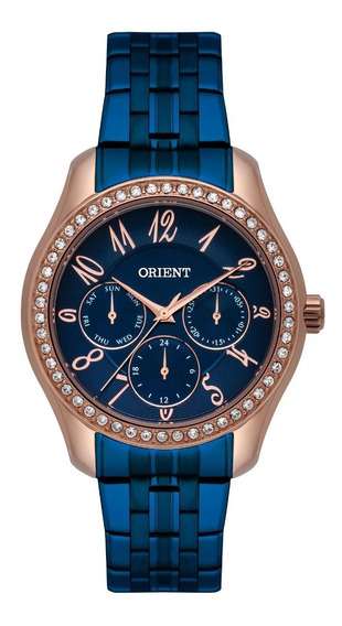 Relógio Orient Feminino Ftssm047 D2dx Rose Azul Multifunção
