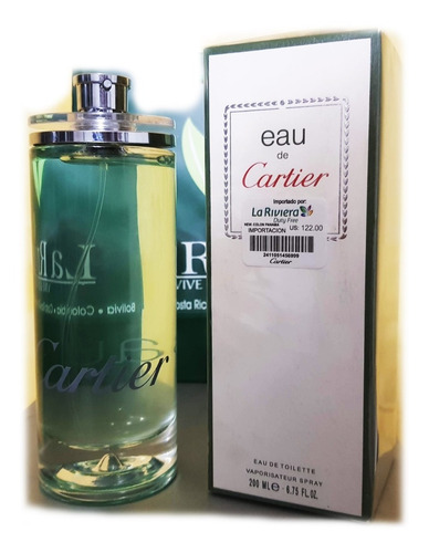 Perfume Eau Cartier Concentrado 200 Ml - L a $950
