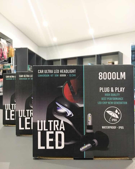 Kit Ultra Led 8000lm 6000k H4