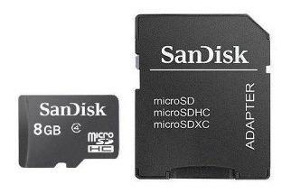 8gb Cartão Memória Micro Sandisk Lacrado Original Drive@ A@