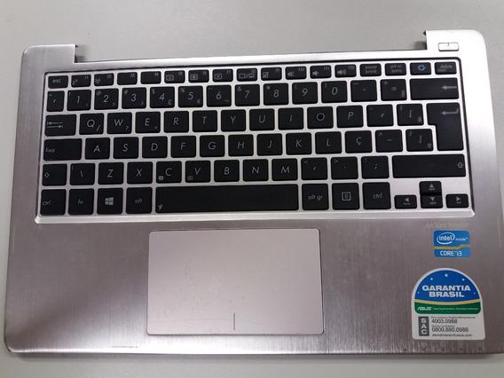 Teclado Asus S200e Completo Com Touch E Botão - Ç