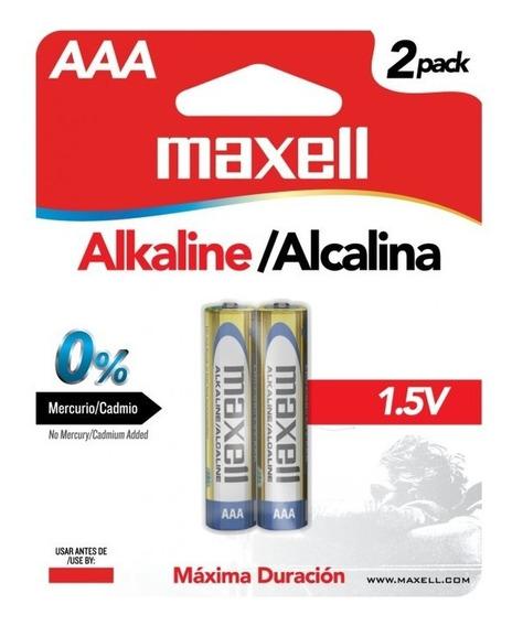 Pila Bateria Alcalina Aaa Paquete De 2 Maxell