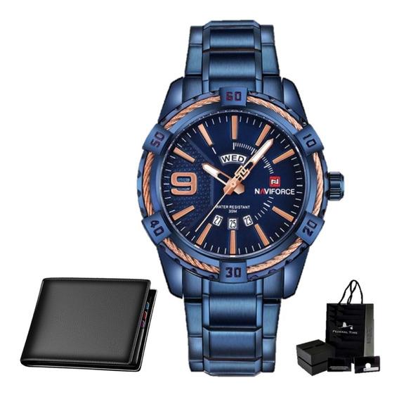 Relógio Masculino Naviforce Funcional 9117 Original Carteira