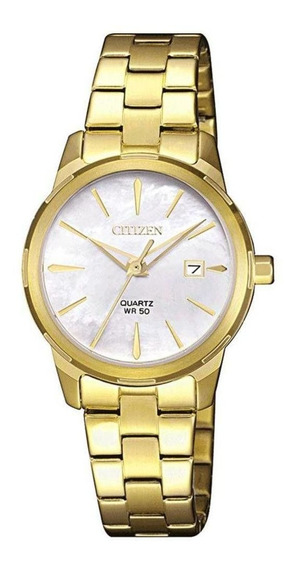 Relógio Feminino Dourado Citizen Eu6072-56d / Tz28495h Nf