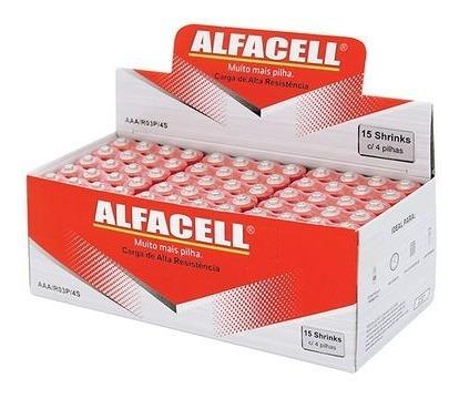 Pilha Aa Pequena Comum Caixa C/ 60 Unidades Alfacell Revenda
