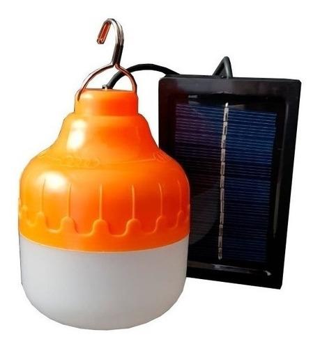 Imagen 1 de 6 de Foco Led 12w Recargable Con Carga Solar O Usb Portatil Fs12