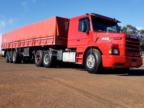 Imagem 1 de 15 de Conjunto Scania 113h 320 1993 6x2 E Semi Reboque Randon 99ls