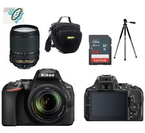 Nikon D5600 Lente 18-140mm Af-s Vr + Bolsa+tripé+64gb C10