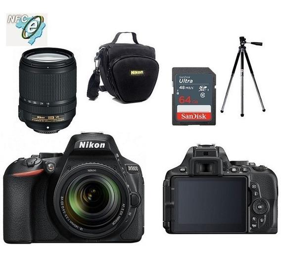 Nikon D5600 18-140mm Vr + Bolsa+tripé+64gb Nota Fiscal
