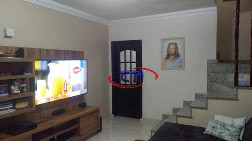 Imagem 1 de 15 de Sobrado Residencial À Venda, Vila Mussolini, São Bernardo Do Campo. - So0471