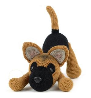 Pastor Alemán- Perros A Crochet - Nariz De Azúcar Amigurumis