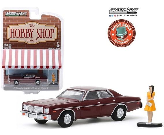 Dodge Coronet 1976 C/figura Hobby Shop Greenlight 1/64