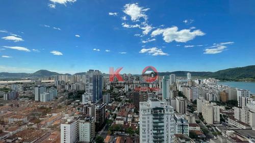 Apartamento Com 2 Dormitórios À Venda, 95 M² Por R$ 860.000,00 - Aparecida - Santos/sp - Ap10371