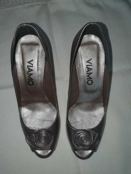 Zapatos Para Salir Taco Aguja Marca Viamo Excelente Estado