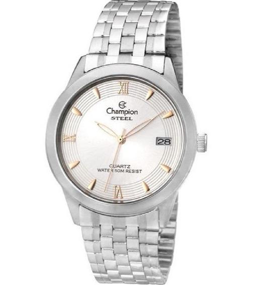 Relógio Champion Masculino Steel Ca20581q Oferta