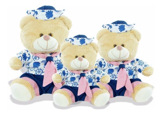 Ursos Marinheiros P/ Nicho P M G Decoração Quarto Bebê