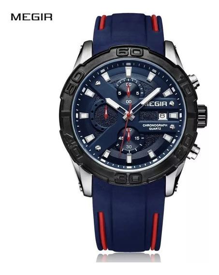 Relógio Masculino Esportivo Megir 2055 Original Nf-e Oferta