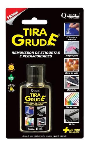Tira Grude Removedor De Cola Adesivo E Manchas 40ml Quimatic