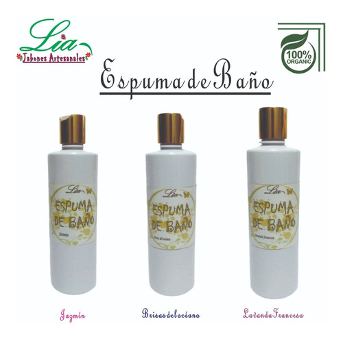 Espuma O Burbujas Para Tina De Baño O Jacuzzi, 500ml Organic
