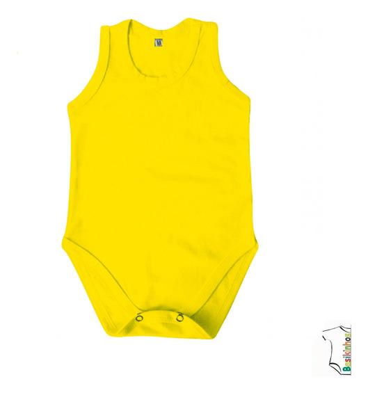 Body Bebê Regatas Liso- 10 Uni- 2 A 4 Anos- Basikinhos