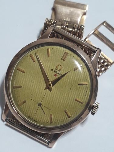 Relógio Ômega Antigo Em Ouro 18k Masculino Cal266 Lindo