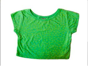 Camiseta Cropped Infantil Meninas Lima Limão Puc 10 Anos